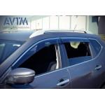 Дефлекторы окон Nissan Qashqai 2014- (с хром молдингом) - AVTM