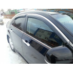 Дефлекторы окон Toyota Camry V40 2006-2011 4дв Хром молдинг - HIC