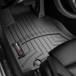 Ковры салона Mercedes-Benz GLC 2015- с бортиком черные, передние - Weathertech