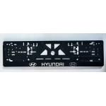 Рамка номерного знака Hyundai (объемные буквы) - AVTM