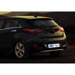 Hyundai I30 (2012-2017) Накладна на задний бампер (верхний) - OMSALINE