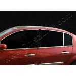 Renault Megane седан (2002-2009) Верхняя окантовка стекол 6шт - OMSALINE