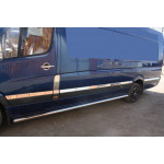 Mercedes Sprinter W906/VW Crafter 2006- Extralong Молдинги дверей 12шт - Carmos