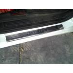 Citroen Jumpy 2007- Накладки на порожки 2шт - Carmos