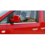 VW Caddy 2004- Молдинги стекол 4шт - Carmos