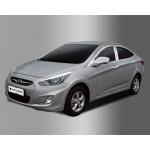Hyundai Accent 2010- Накладки на стойки - Clover