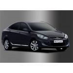 Hyundai Accent 2011- Нижний молдинг двери 4шт - Clover