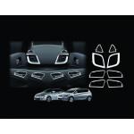 Hyundai Accent 2010- Накладки в салон 8шт - Clover