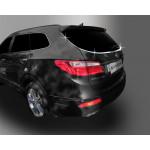 Hyundai Santa Fe Grand 2013- Нижний молдинг стекла 4шт - CLOVER