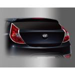 Hyundai Accent 2011- Накладки на стопы 2шт - Clover