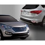 Hyundai Santa Fe 2012- Окантовка противотуманок 4шт - CLOVER