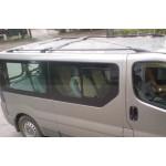 рейлинги Renault Trafic/Opel Vivaro 2001-2015 /длинн.база /Черный /Abs - CAN