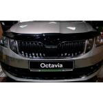 Дефлектор капота Skoda Octavia 2017-  А7 фейслифт - SIM