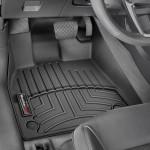 Ковры салона  Audi Q5 2017- с бортиком черные, передние - Weathertech