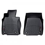 Ковры салона  Lexus LS 460 2012- AWD с бортиком черные, передние - Weathertech