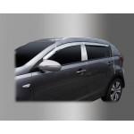 Kia Sportage 2010-2015 Дефлектора окон хром 4шт - Clover