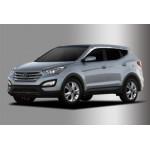 Hyundai Santa Fe 2012- Дефлектора окон хром 6шт - Clover