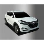 Hyundai Tucson 2015- Дефлектор капота темный 3шт - Clover