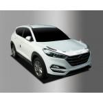 Hyundai Tucson 2015- Дефлектор капота хром 3шт - Clover
