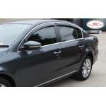 Дефлекторы окон Lexus ES 2012 -> С Хром Молдингом - HIC