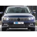 VW Passat B8 (2014-) Верхняя накладка на передние фонари(реснички) (нерж.) 3 шт - OMSALINE