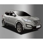 Hyundai Grand Santa Fe 2013-2014 Накладки на крылья - Clover