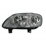 Фара передняя Volkswagen Caddy 2004-2010/Touran 2003-2006 левая H7/H7, эл. рег., хром. рамка - DEPO