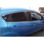 Ford Fiesta 2008-2017 Молдинги стекол верхние 8шт - Carmos