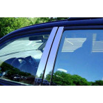 Nissan Navara 2005-2015 Накладки дверных стоек 4шт - Carmos