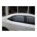 Toyota Corolla 2013- Молдинги стекол верхние 4шт - Carmos