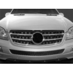 Mercedes ML 164 2005-2011 Накладка на решетку радиатора 5шт - Carmos