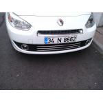 Renault Fluence 2009-2013 Накладки на решетку радиатора (бампер) 3шт - Carmos