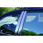 Skoda Octavia A7 2013- Накладки дверных стоек 6шт - Carmos
