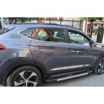 Hyundai Tucson 2015- Молдинги дверные широкие 4шт - Carmos