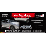 Накладка на двери HYUNDAI SANTA FE 2012 ХРОМ 4 ШТ. - AutoClover