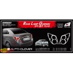 Накладки на задние фары CHEVROLET AVEO седан 2012 ХРОМ 4 ШТ - AutoClover