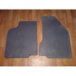 Резиновые коврики VW CADDY 2004 ЧЕРНЫЕ ПЕРЕДНИЕ 2 шт - Petex
