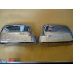 Ford Connect 2010-2014 Накладки на зеркала горизонтальные (пластик) 2шт - Carmos