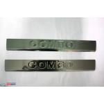 Opel Combo 2012- Накладки на поріжки 2шт - Carmos