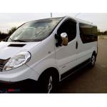 Opel Vivaro/Renault Traffic/Nissan Primastar 2001-2014 Накладки на зеркала (пластик) 2шт - Carmos