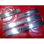 Skoda Fabia 2000-2014 Накладки на порожки 4шт - Carmos
