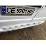Mercedes Vito W639 2003-2014 Накладка на задний бампер без загиба - Carmos