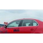 VW Jetta 2011- Верхние молдинги стекла 4шт - Carmos