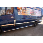 Mercedes Sprinter W906/VW Crafter 2006- Молдинги дверей Средн. база 12шт - Carmos