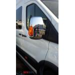 Ford Transit 2014- Накладки на зеркала (пластик) 2шт - Carmos