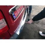 VW Caddy 2004-2015 Накладка на задний бампер с загибом - Carmos