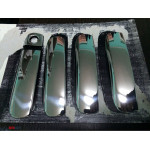 Audi A6 2004-2011 Накладки на дверные ручки (водительская цельная) 4шт - Carmos