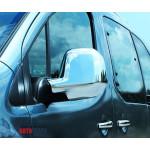 Citroen Berlingo 2012- Накладки на зеркала (пластик) 2шт - Carmos