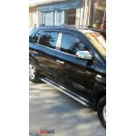 Hyundai Tucson 2004 Накладки на стойки дверей 6шт - Carmos