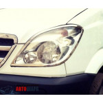 Mercedes Sprinter W906 2006-2013 Накладки на фары 2шт - Carmos